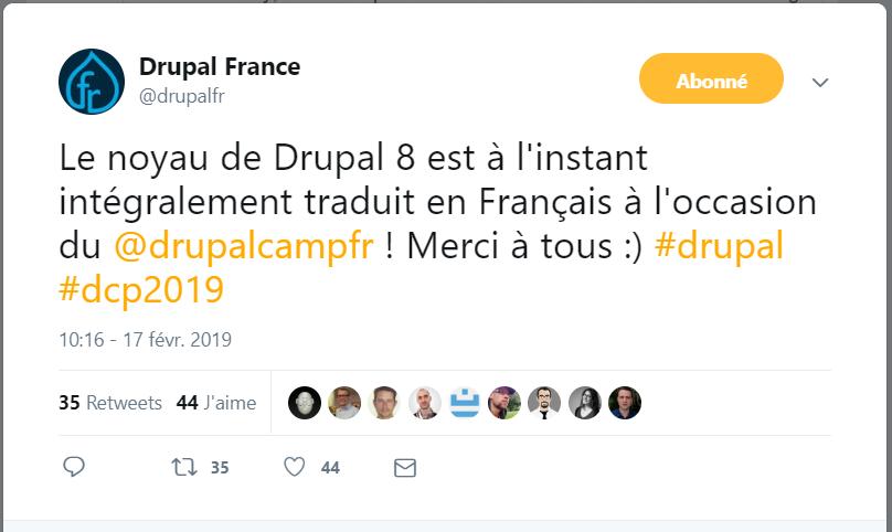 DrupalCamp - Tweet Drupal France