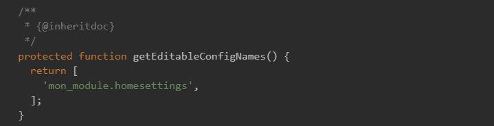 Editable Config
